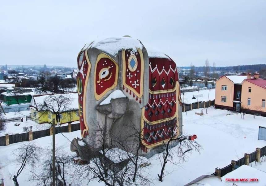 дом в форме слона на новорязанском шоссе фото